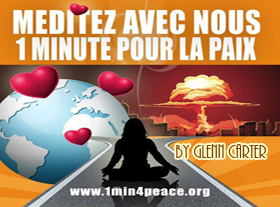 Meditate 1 Minute For Peace - By Glenn Carter