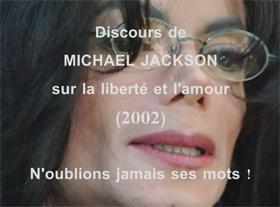 Discours de Michael Jackson