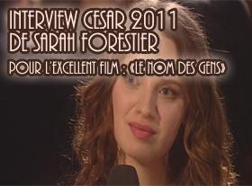 Interview de Sarah Forestier - Cesar 2011
