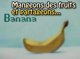 Mangeons des fruits et partageons