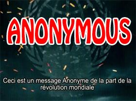 Anonymous : Message au Monde