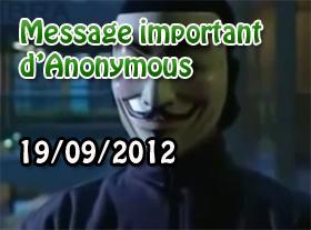MESSAGE IMPORTANT d Anonymous