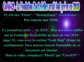 Covid-19 - La Fondation Rockefeller avait tout prévu en 2010 !