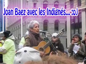 Joan Baez avec les Indignés... !!!