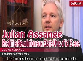 Julian Assange prédit la Révolution aux Etats-Unis, d ici 5 ans