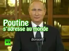 Poutine s adresse au monde
