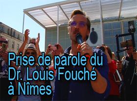 Prise de parole du Dr. Louis Fouché à Nîmes
