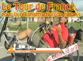 Le tour de France, pour la reconstruction du clitoris