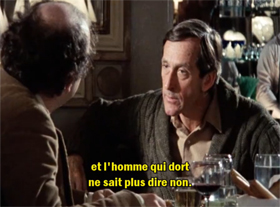 Un cauchemar Orwellien, du film My Dinner with Andre de Louis Malle