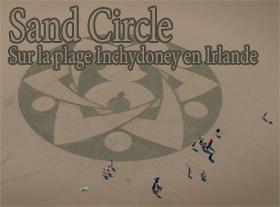 Sand Circle - Sur la plage Inchydoney en Irlande