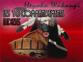 Les dix commandements indiens