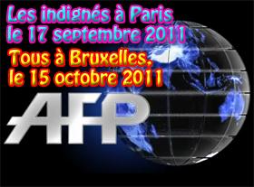 Des centaines d Indignés à Paris, ce 17 septembre 2011
