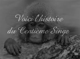 L histoire du 100ème singe